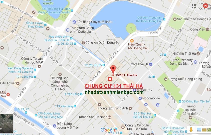 Vị trí Kim cương Đắc địa có một không hai của Chung cư 131 Thái Hà