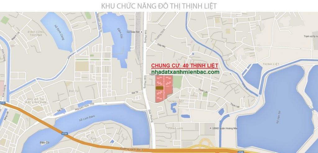 Vị trí Vàng đắc địa án ngữ 2 quận Hoàng Mai - Hai Bà Trưng của Chung cư 40 Thịnh Liệt