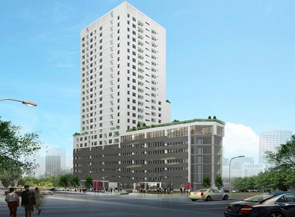 Phối cảnh Tổng thể Dự án Chung cư Hamilton Complex 317 Trường Chinh