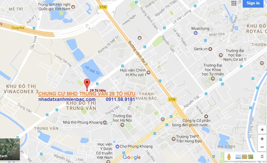 Vị trí Vàng đắc địa Chung cư MHD Trung Văn 29 Tố Hữu