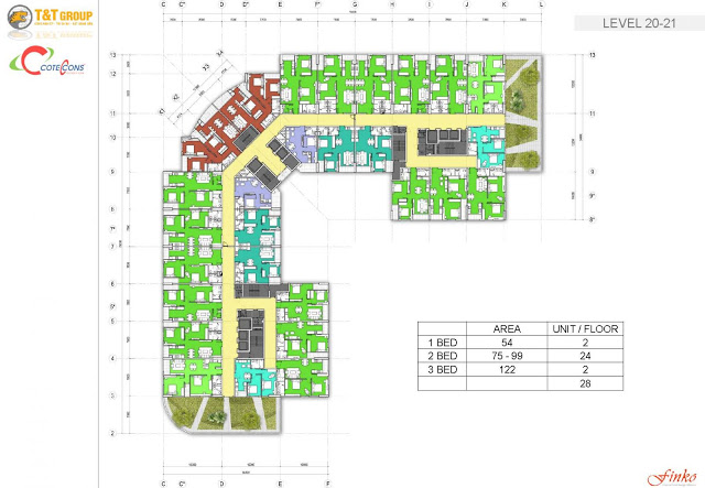 Thiết kế Mặt bằng Dự án Chung cư T&T Vĩnh Hưng