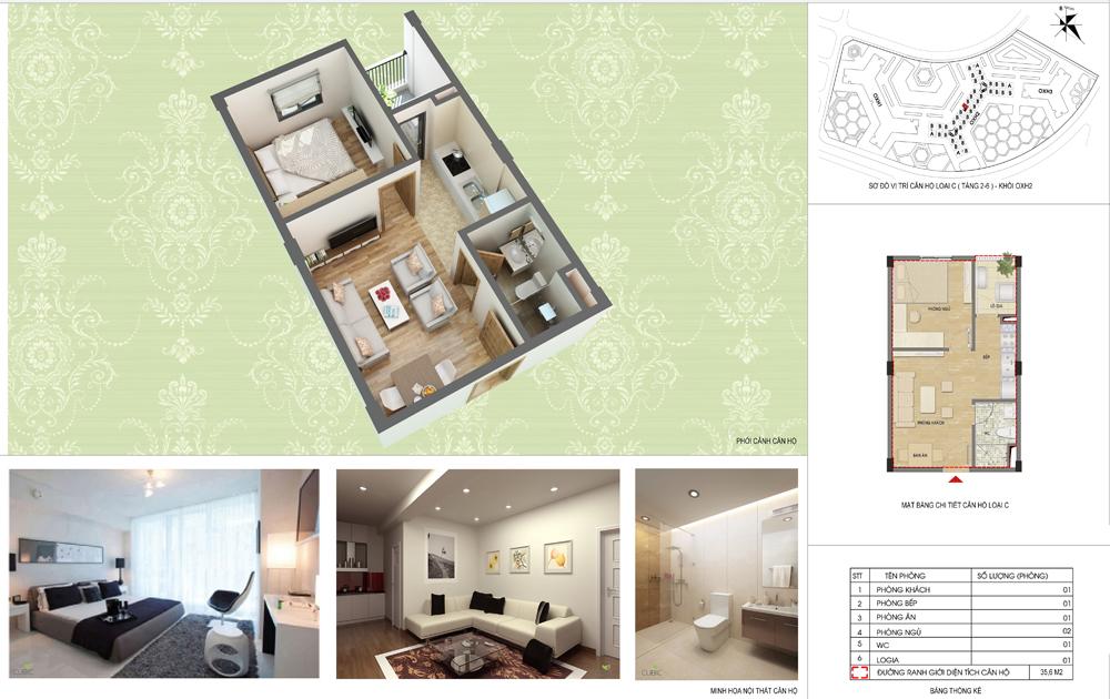 Thiết kế căn hộ Khu nhà ở Hưng Thịnh - Hà Đông