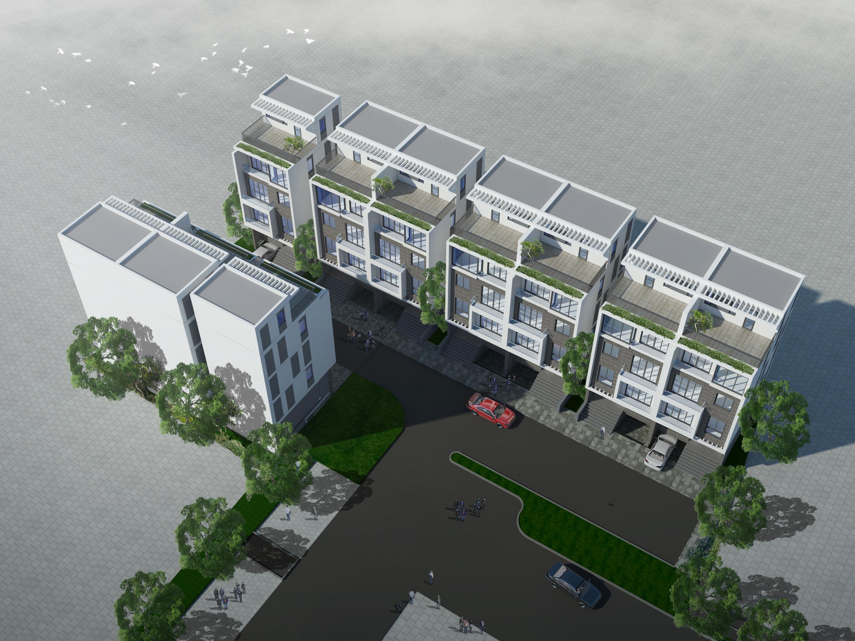 Flycam Dự án Nhà phố Thương mại Riverside Garden 349 Vũ Tông Phan 3