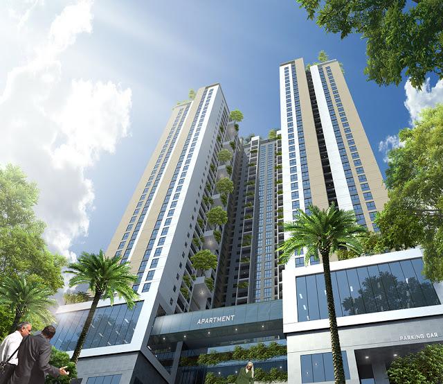 Kiến trúc mạnh mẽ, khác biệt tạo điểm nhấn sinh động cho Chung cư cao cấp