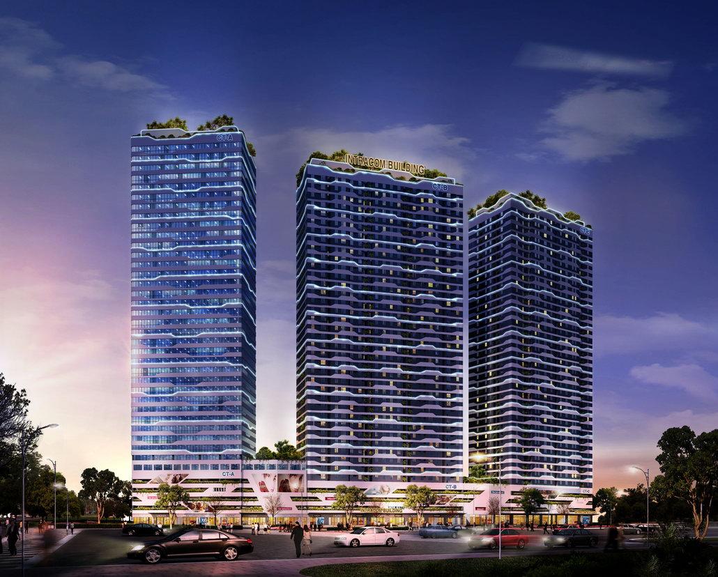 Dự án Chung cư Intracom 8 Vĩnh Ngọc gồm 3 tháp cao 39 tầng nổi