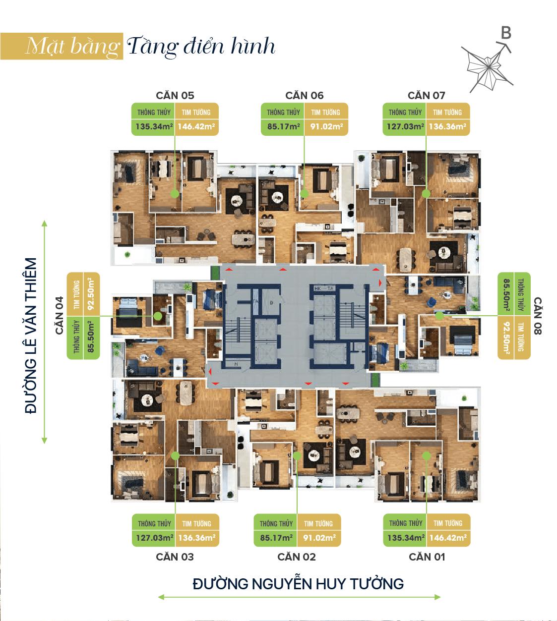 Chi tiết căn hộ cập nhật theo Bảng giá Bohemia Residence