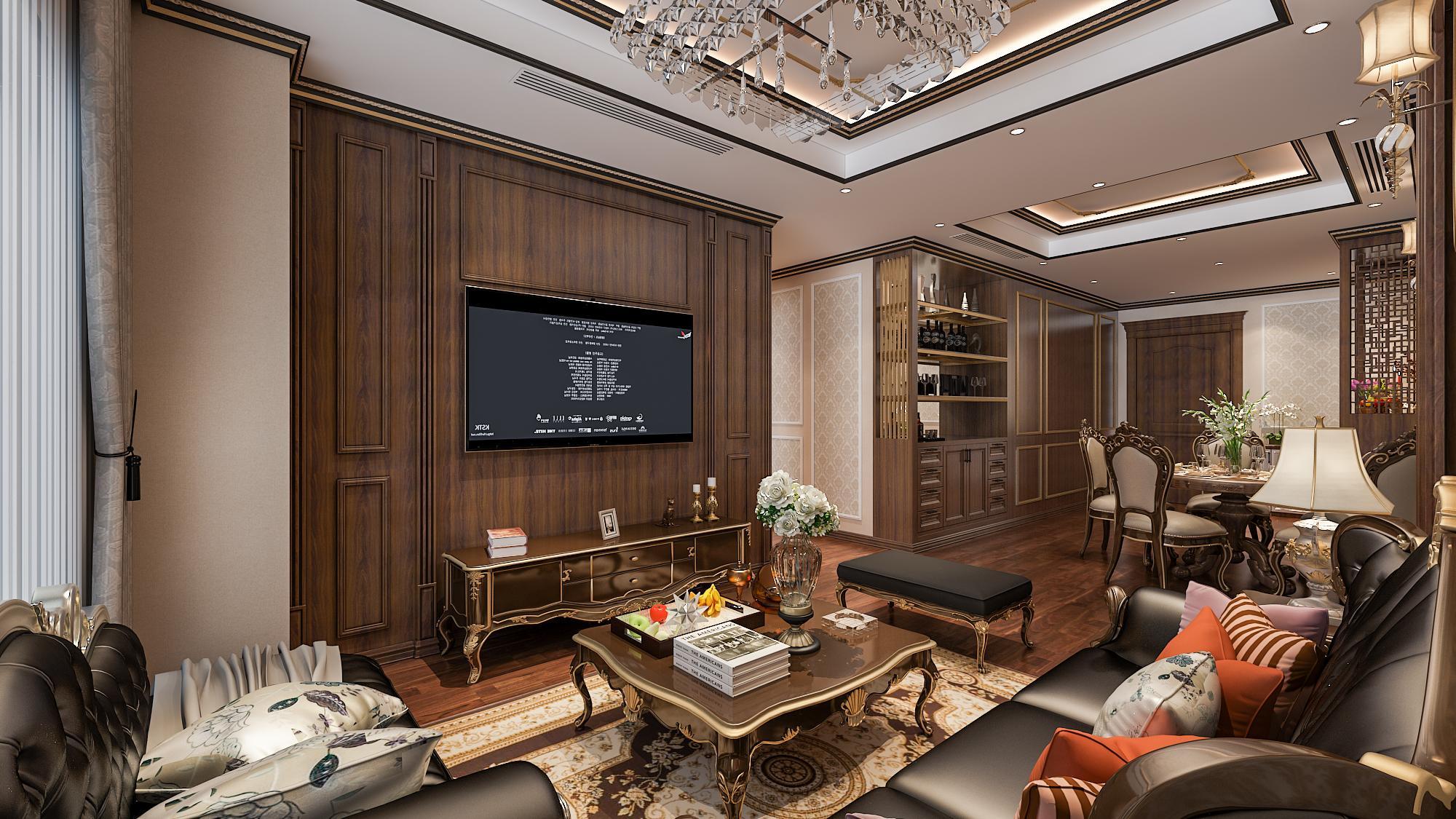 Nội thất sang trọng bên trong căn hộ Chung cư 319 Bồ Đề HC Golden City