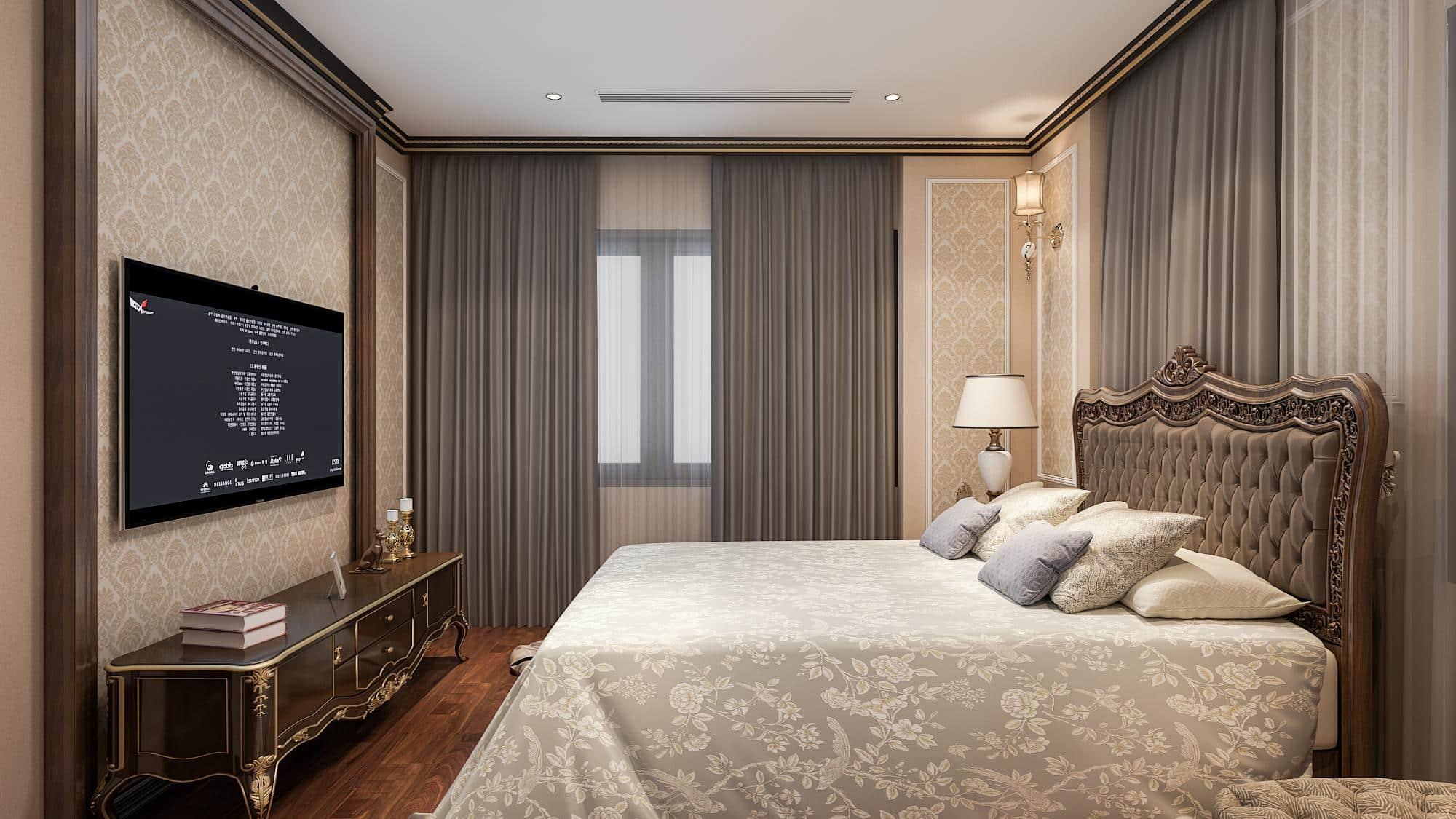 Phòng ngủ sang trọng Căn hộ mẫu Chung cư 319 Bồ Đề HC Golden City