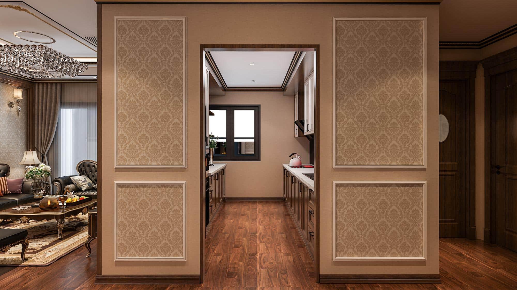 Bếp hiện đại căn hộ HC Golden City