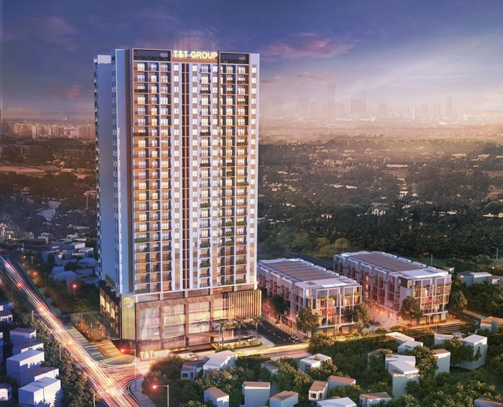 Phối cảnh Tổng thể Dự án Chung cư 120 Định Công T&T Tower Định Công
