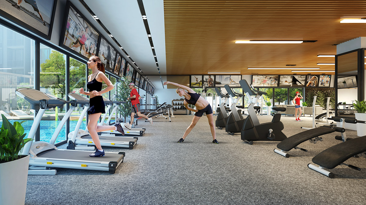 Phòng tập Gym tại Chung cư Bohemia Nguyễn Huy Tưởng