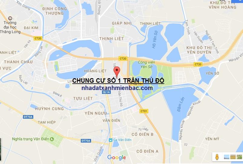 Vị trí đắc địa của Tổ hợp Dự án Chung cư PD Green Park số 1 Trần Thủ Độ