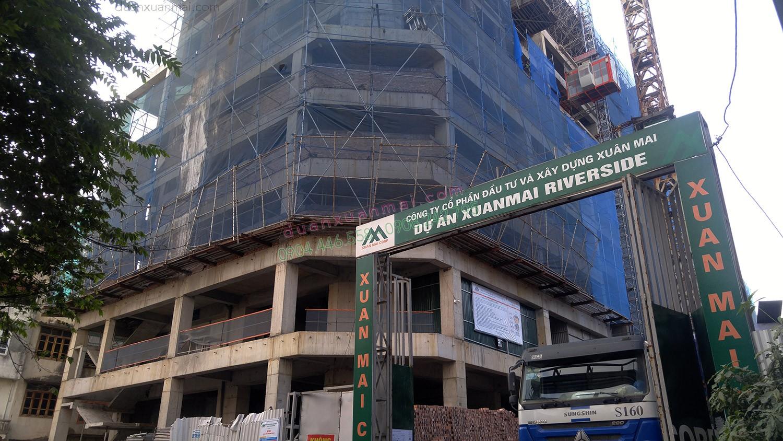 Công trường dự án Chung cư Xuân Mai Riverside