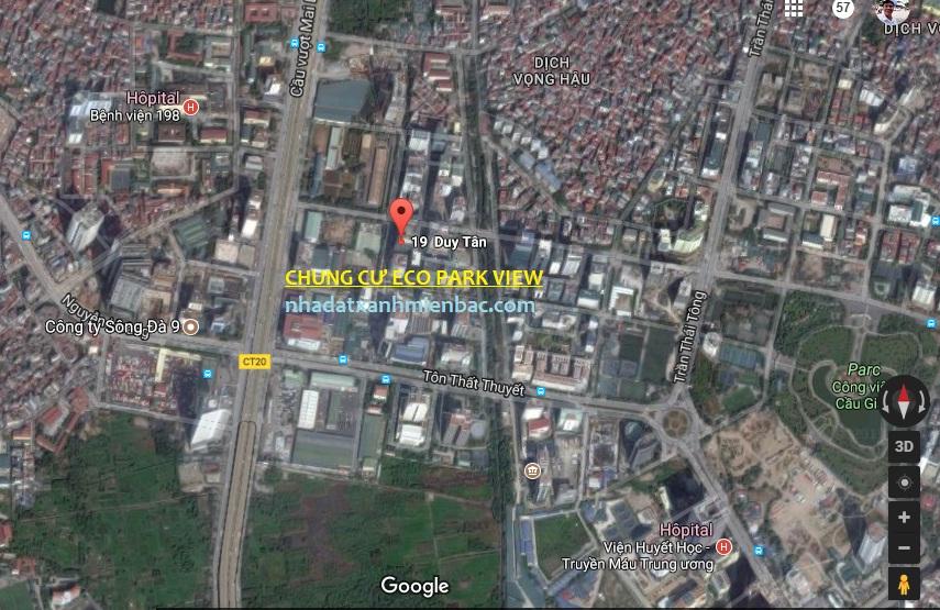 Vị trí vàng Dự án Chung cư Eco Park View 19 Duy Tân