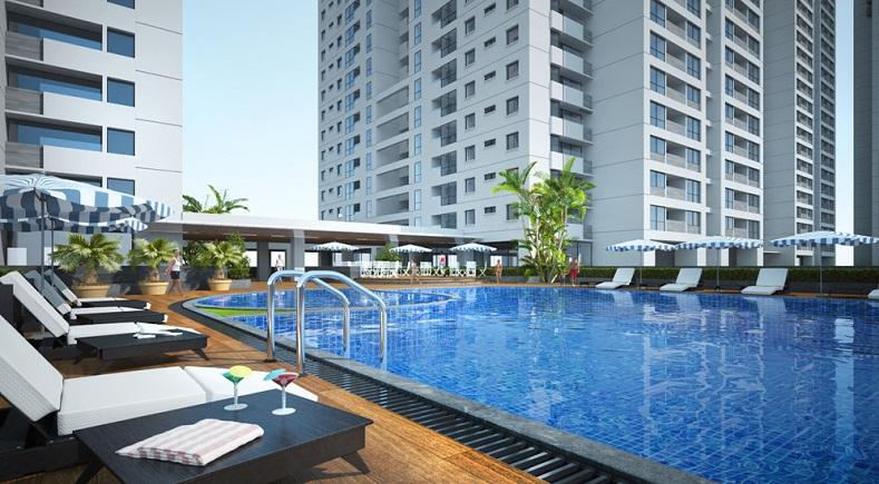 bể bơi tại chung cư new horizon city