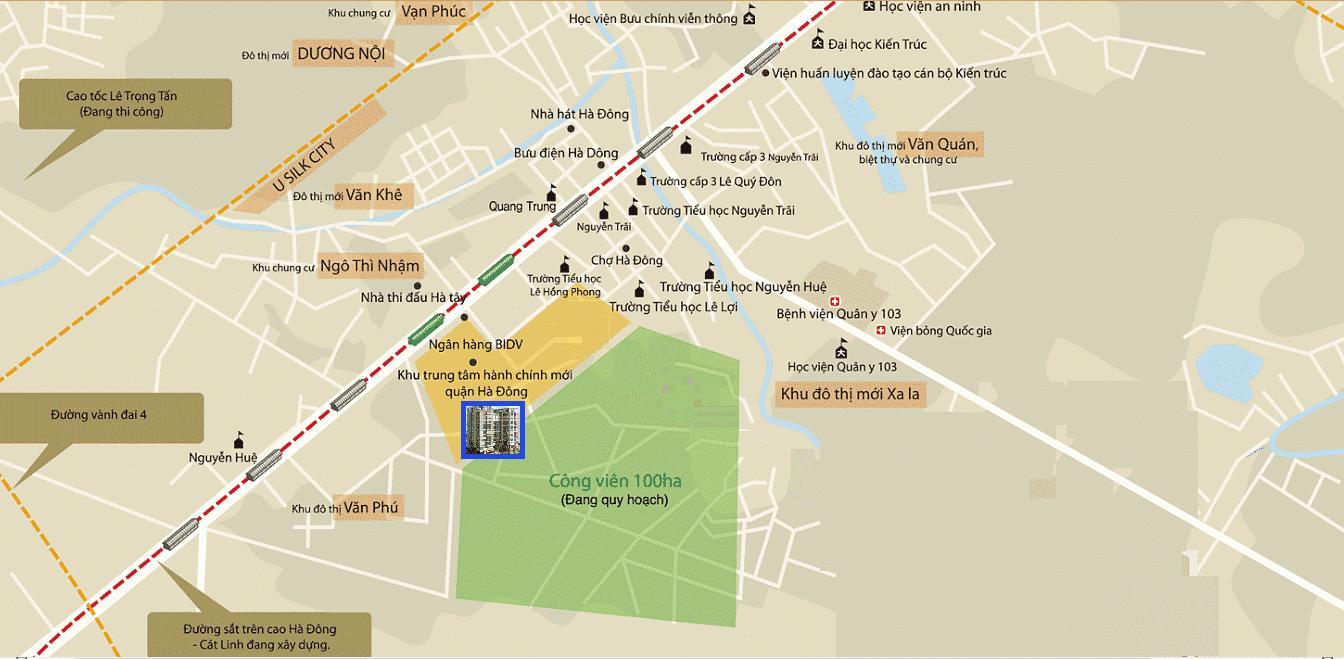 Dự án Chung cư Phú Thịnh HTV Complex Green Park liền kề Công viên 100 Ha