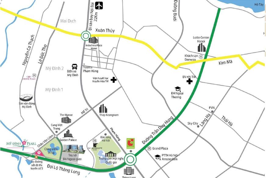 chung cư viện h56 vị trí dự án