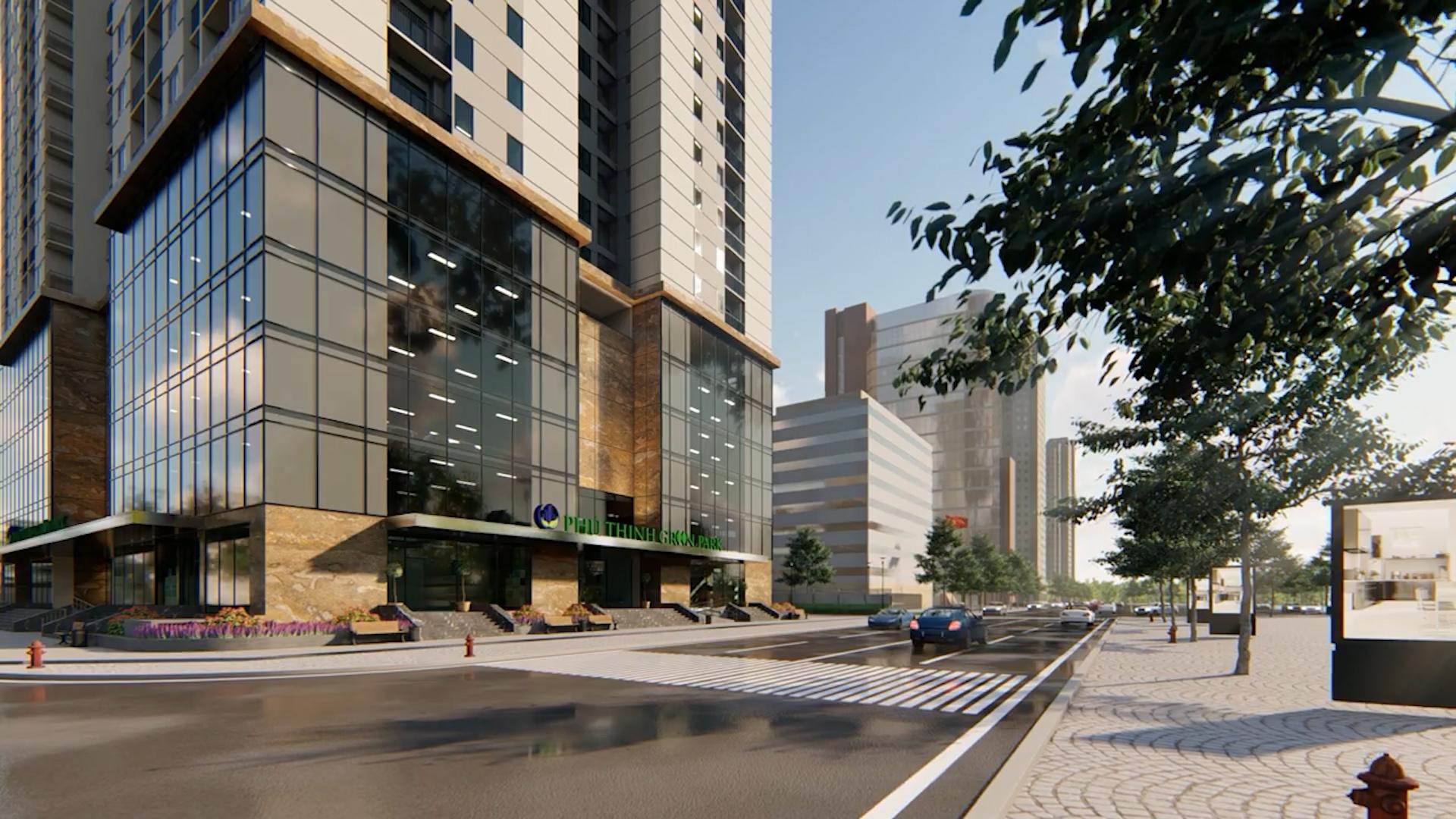 Dự án Chung cư Phú Thịnh Green Park liền kề trục đường lớn, giao thông thông suốt