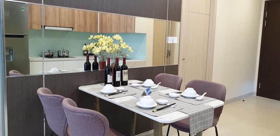 Bàn ăn trong căn hộ mẫu Dự án PCC1 Thanh Xuân 44 Triều Khúc