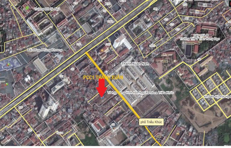 Chung cư 44 Triều Khúc PCC1 Thanh Xuân vị trí dự án
