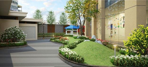 vườn dạo bộ tầng 7 dự án Samsora Premier 105