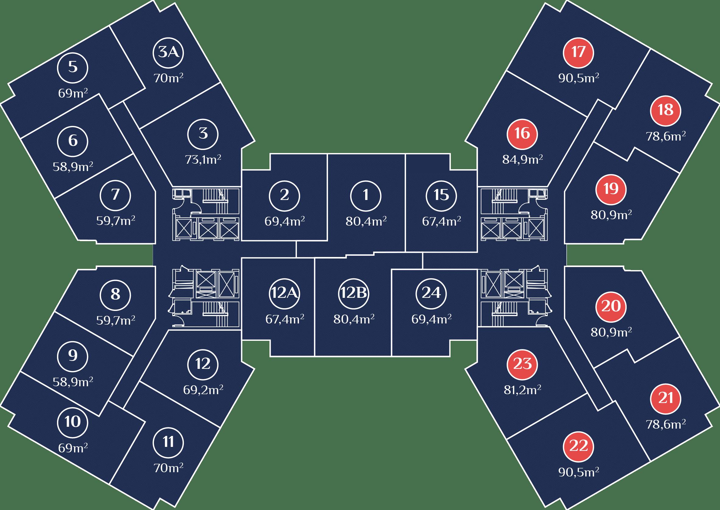 cơ cấu căn hộ dự án chung cư samsora premier