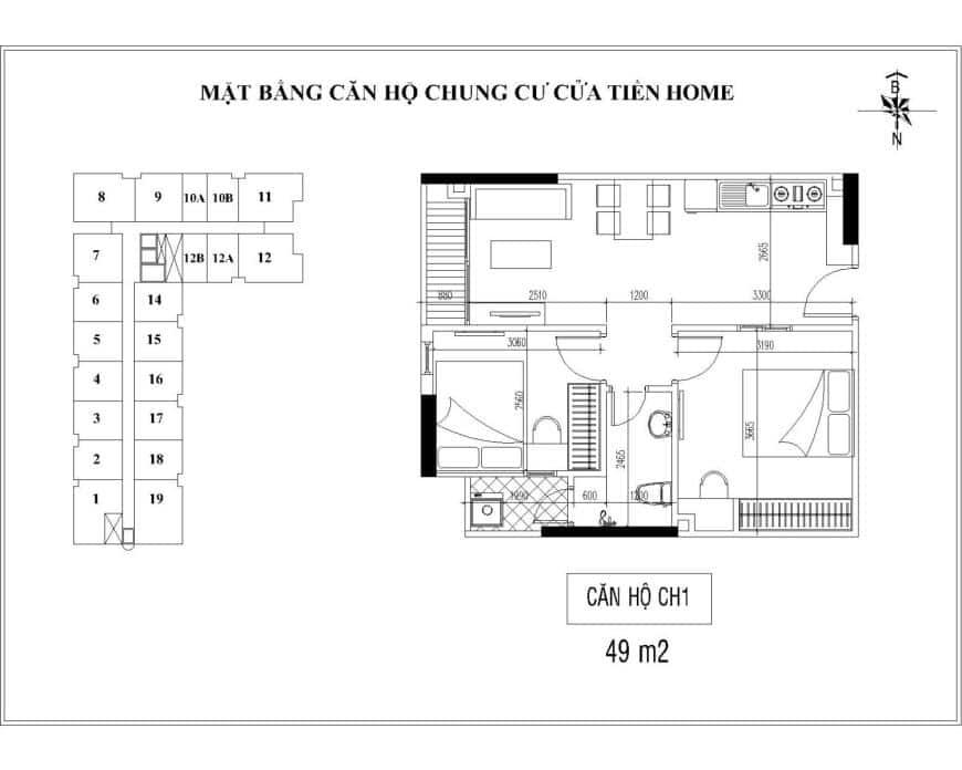 chung cư cửa tiền home căn hộ ch1