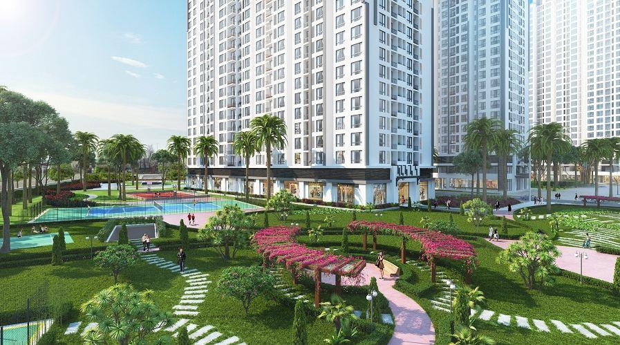 chung cư eco luxury thạch bàn quần thể xanh