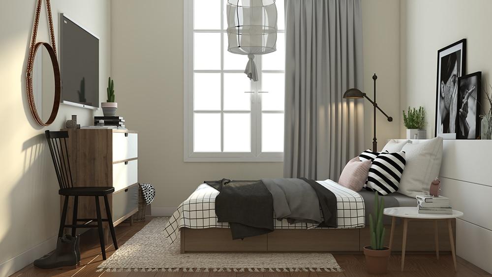 chung cư eco luxury thạch bàn phòng ngủ