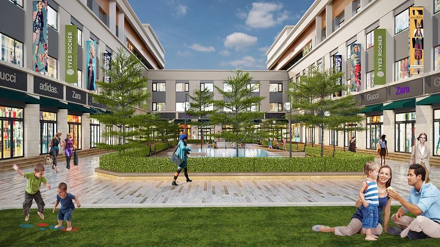chung cư eurowindow river park khuôn viên xanh