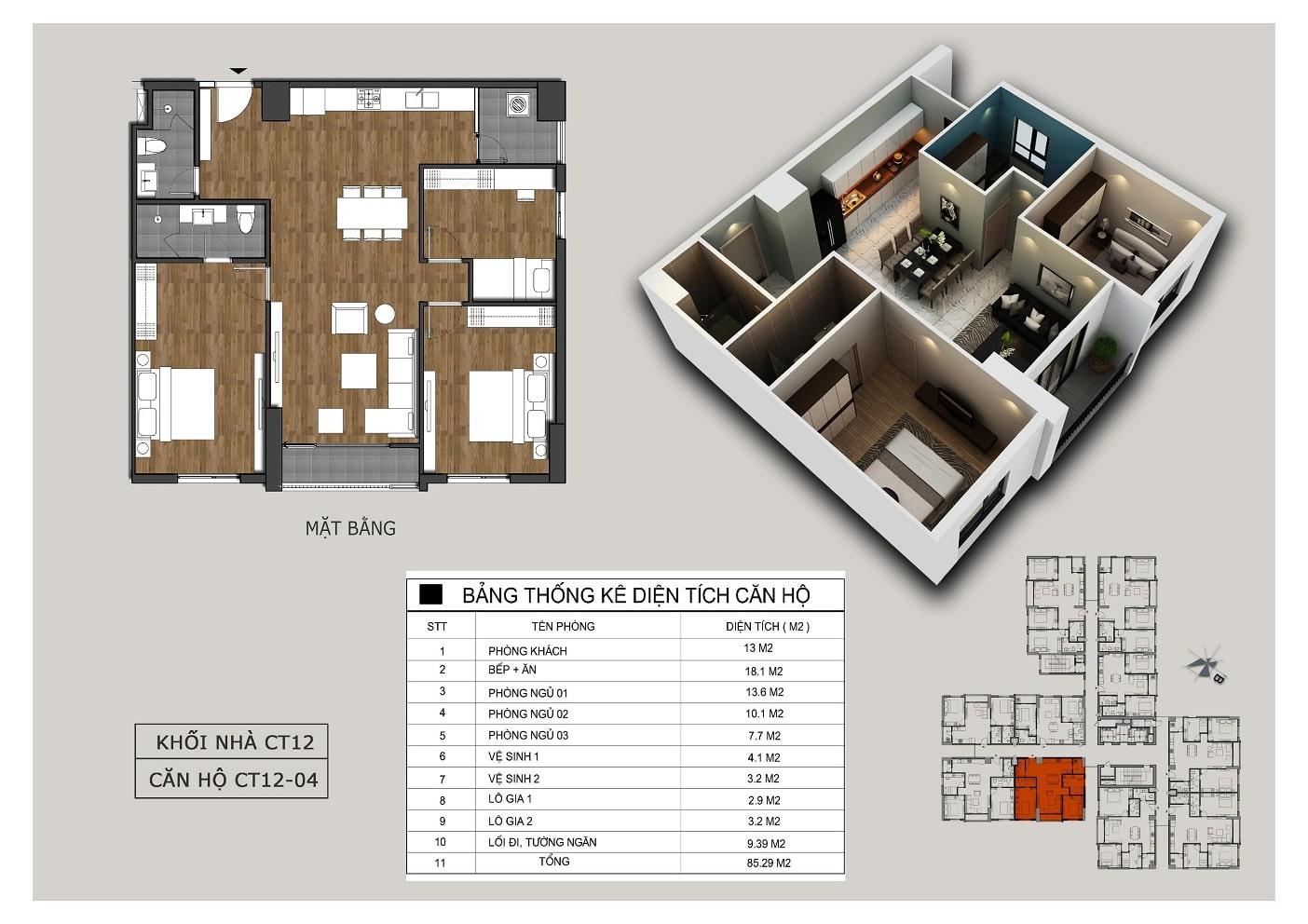 Thiết kế căn 04 tòa CT12 Rosa