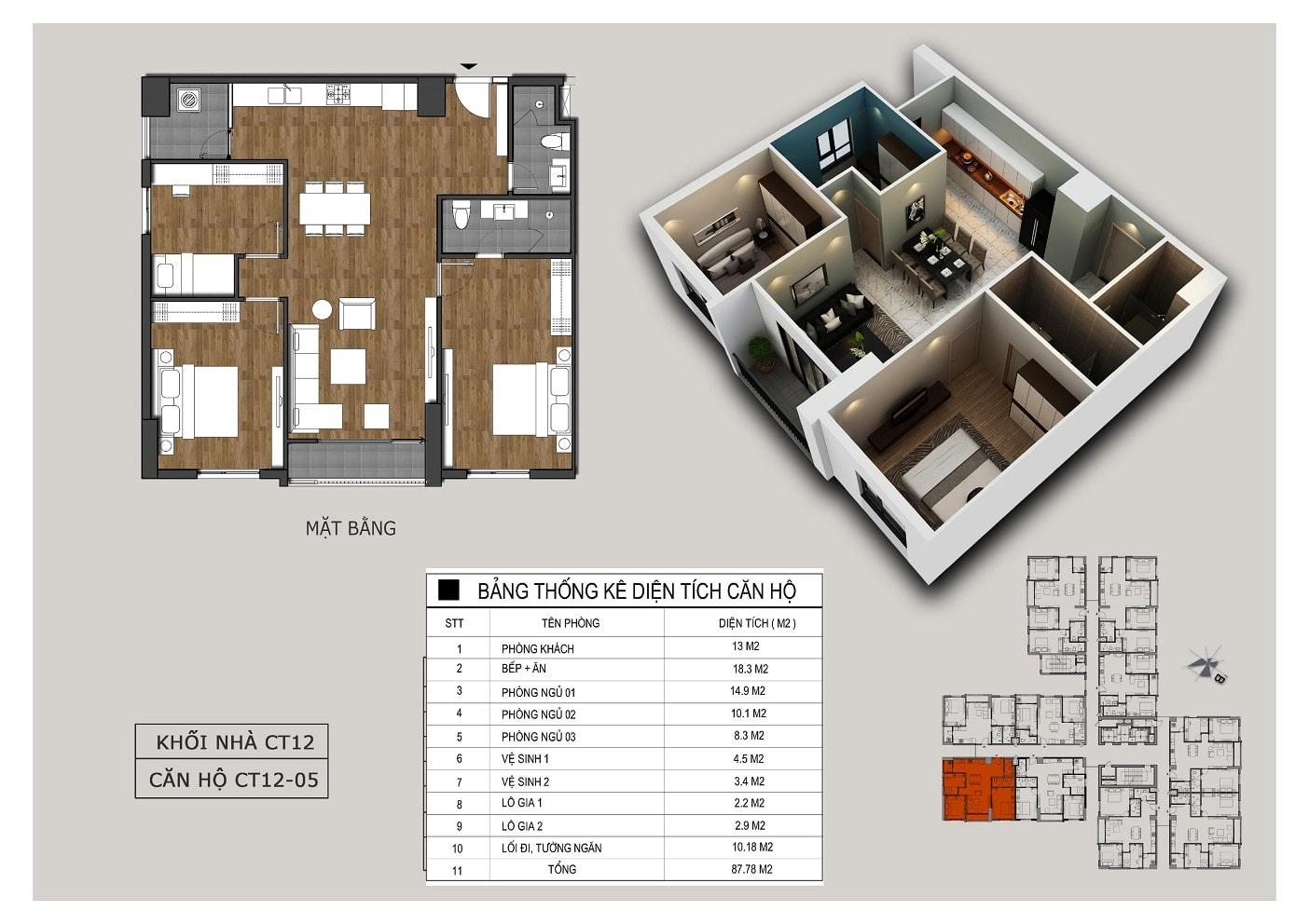 Thiết kế căn 05 tòa CT12 Rosa