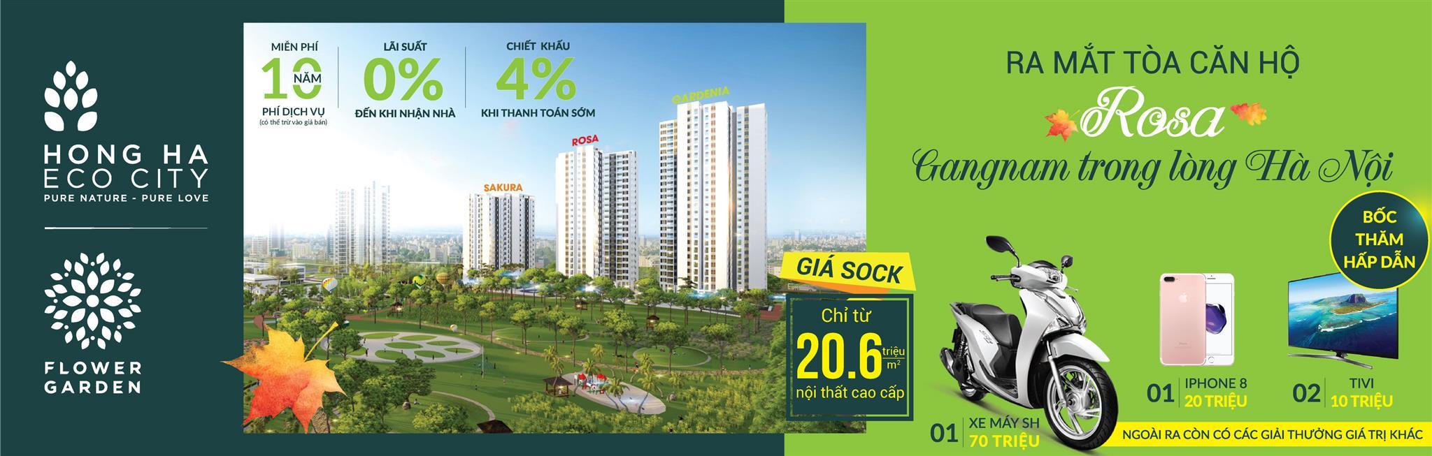 chính sách bán hàng tòa Rosa CT12 Chung cư Hồng Hà Eco City