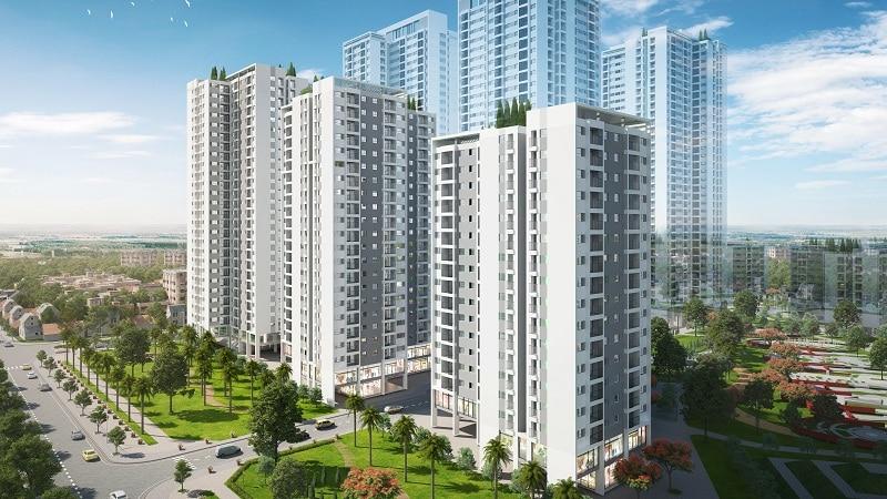 Phối cảnh Tòa Sakura 1 - Dự án Hồng Hà Eco City