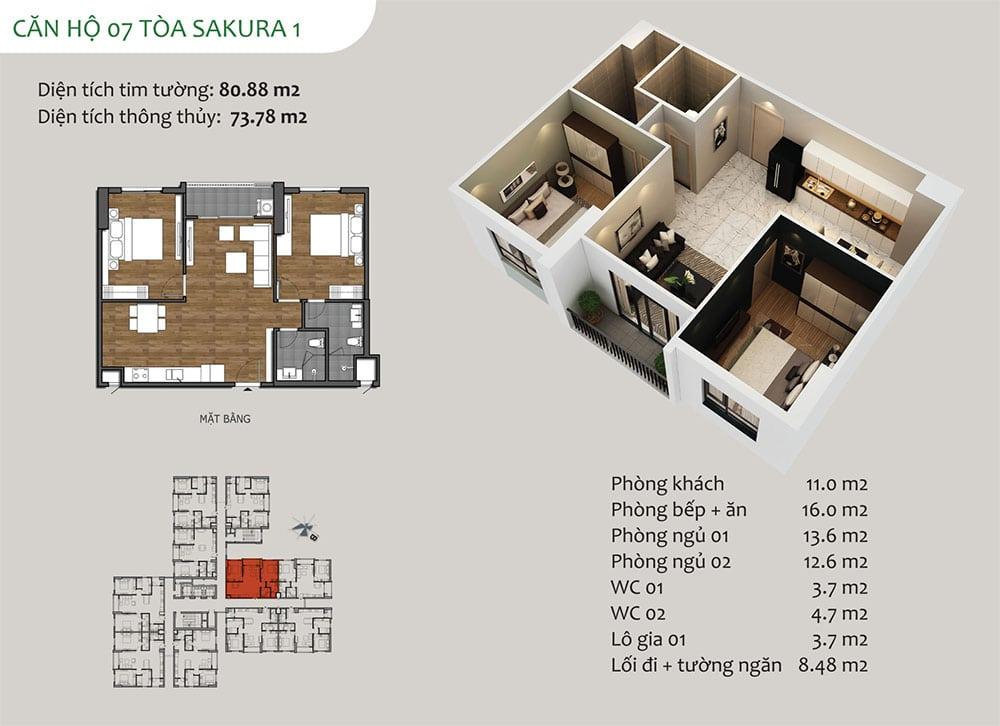 căn hộ 07 Tòa Sakura 1