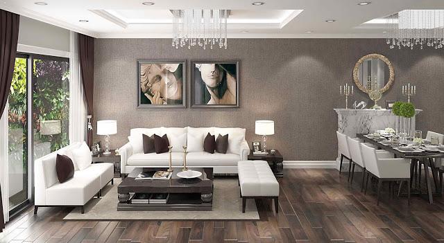 chung cư sky line nội thất phòng khách
