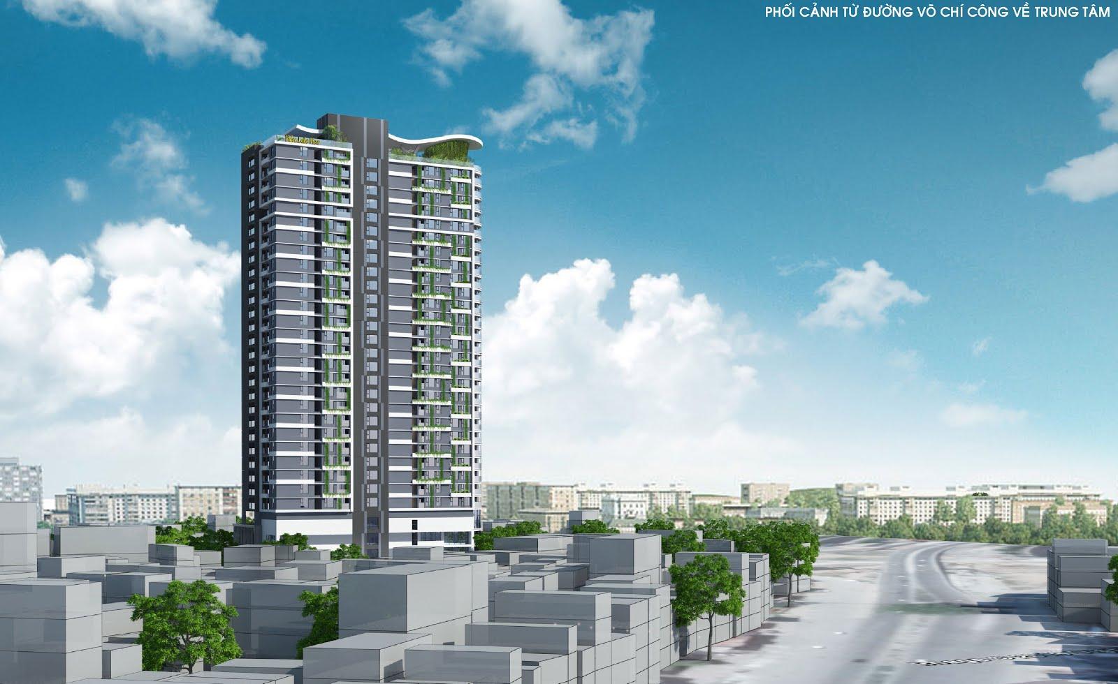 chung cư sky line phối cảnh góc