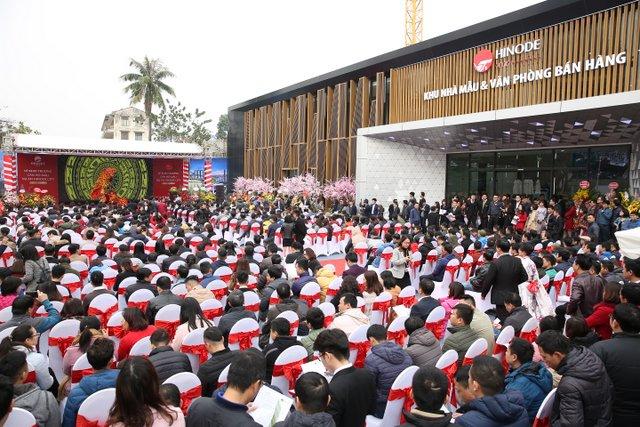 Mở bán Chung cư Hinode City thu hút hàng nghìn lượt khách hàng tham dự