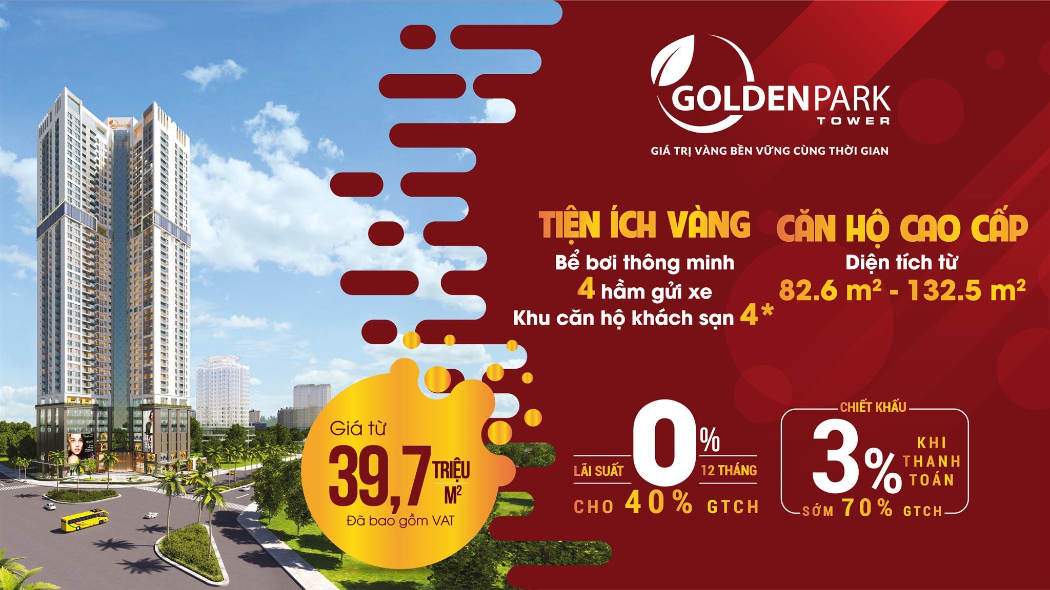 chính sách bán hàng Dự án Golden Park Tower