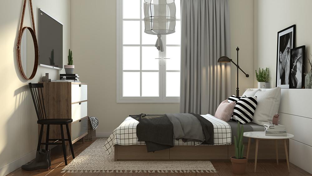 chung cư hc golden city phòng ngủ