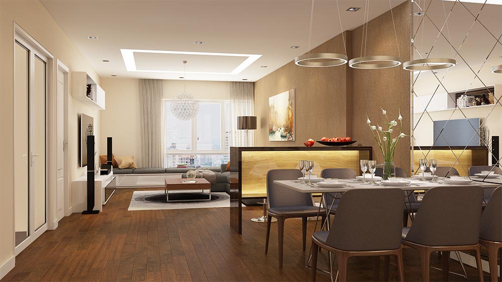 chung cư hc golden city phòng sinh hoạt chung