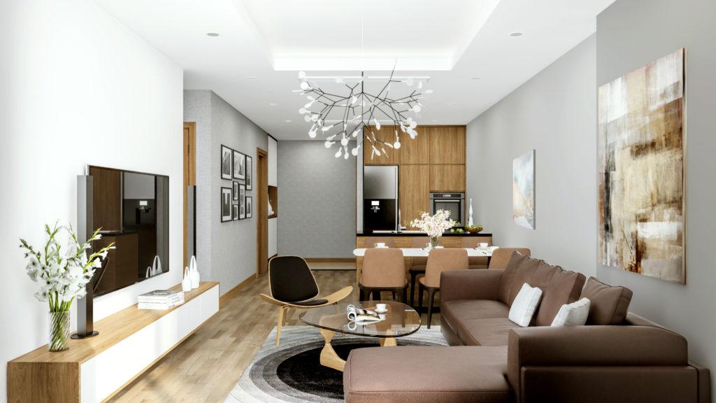 Thiết kế nội thất đậm chất Hàn Quốc phòng khách