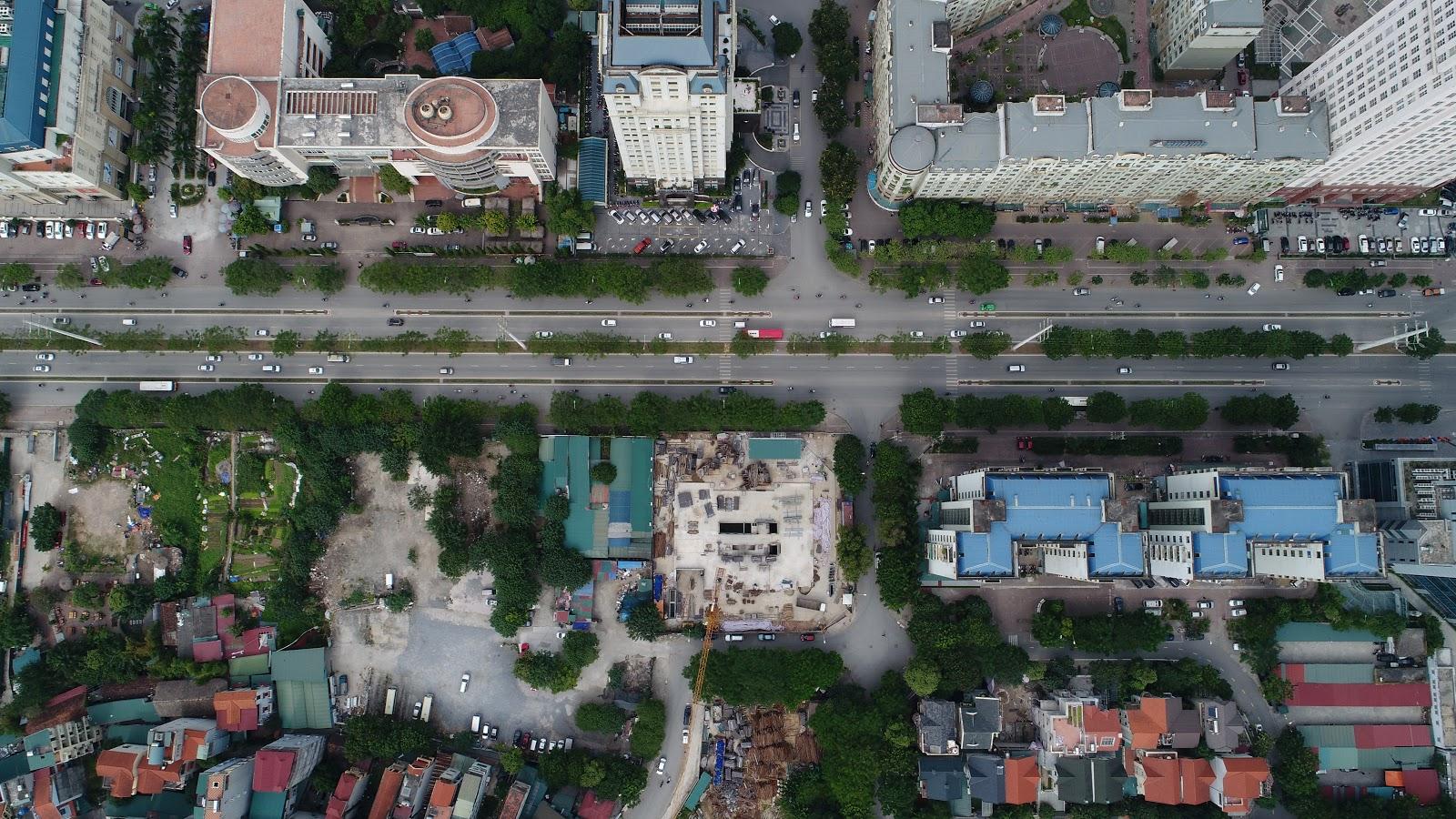 Flycam Dự án Chung cư The Sun Mễ Trì từ tầng 35