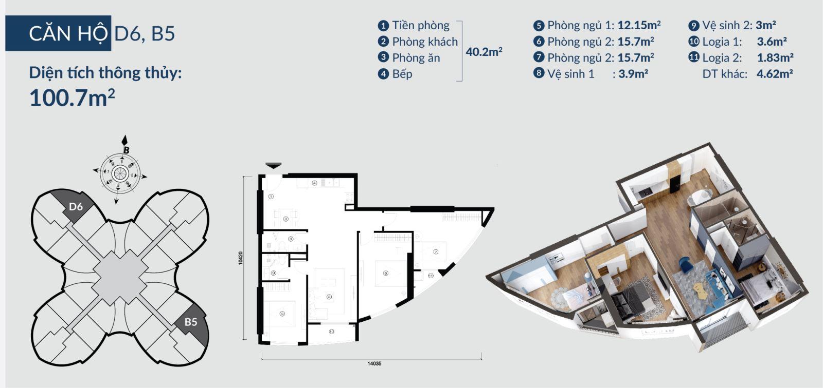 Chi tiết căn hộ Skyview Plaza 360 Giải Phóng 12