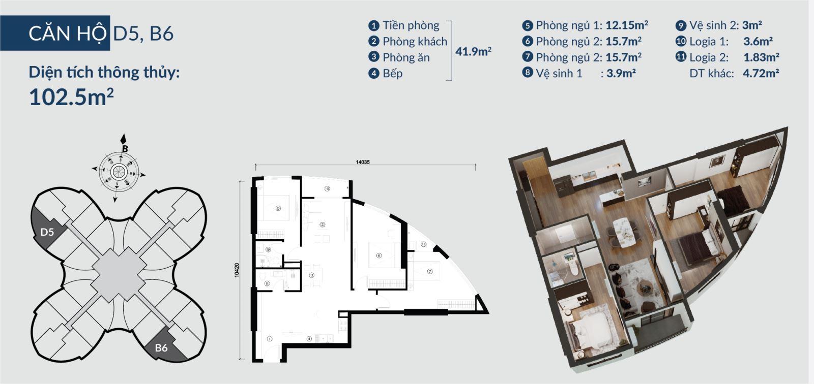 Chi tiết căn hộ Skyview Plaza 360 Giải Phóng 13