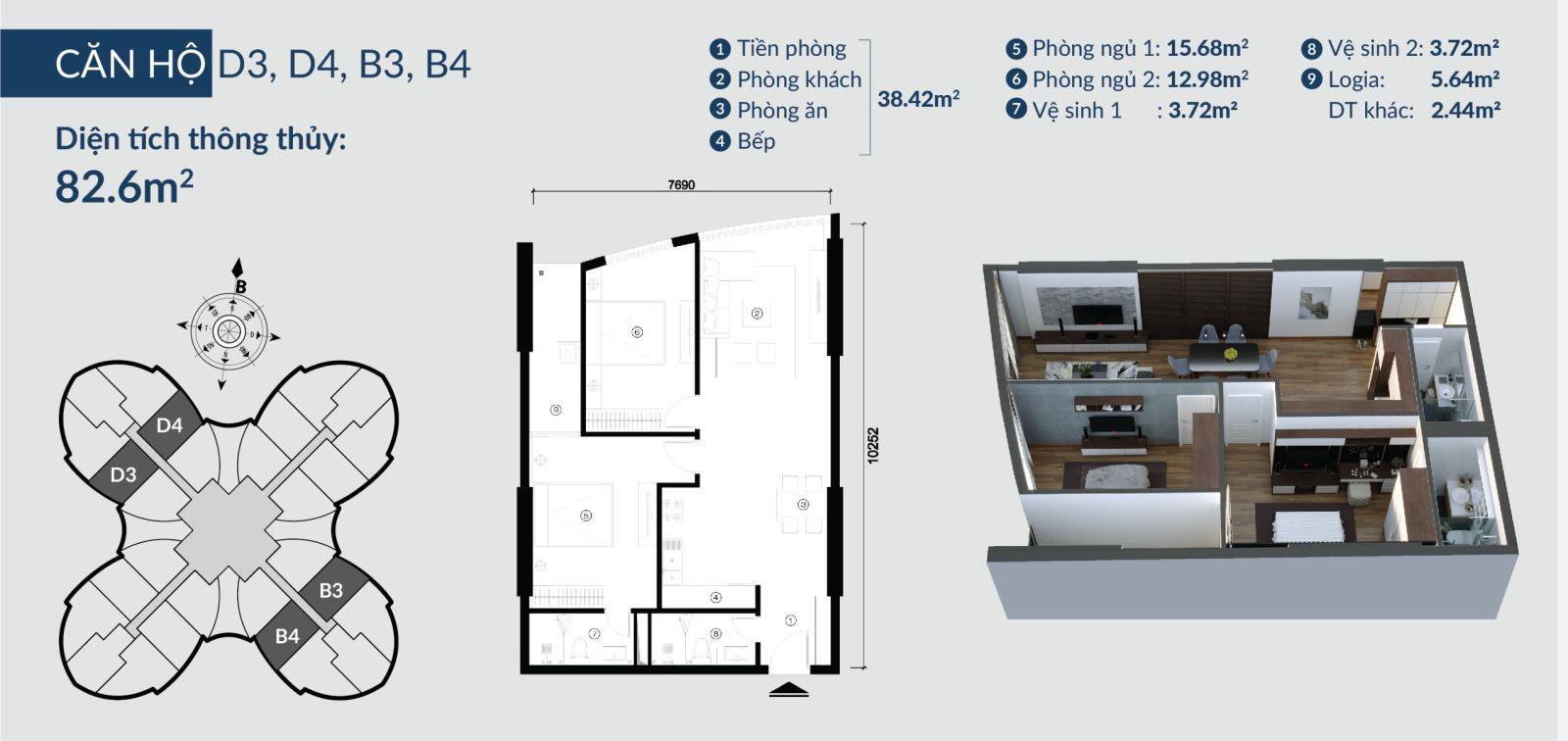 Chi tiết căn hộ Skyview Plaza 360 Giải Phóng 10