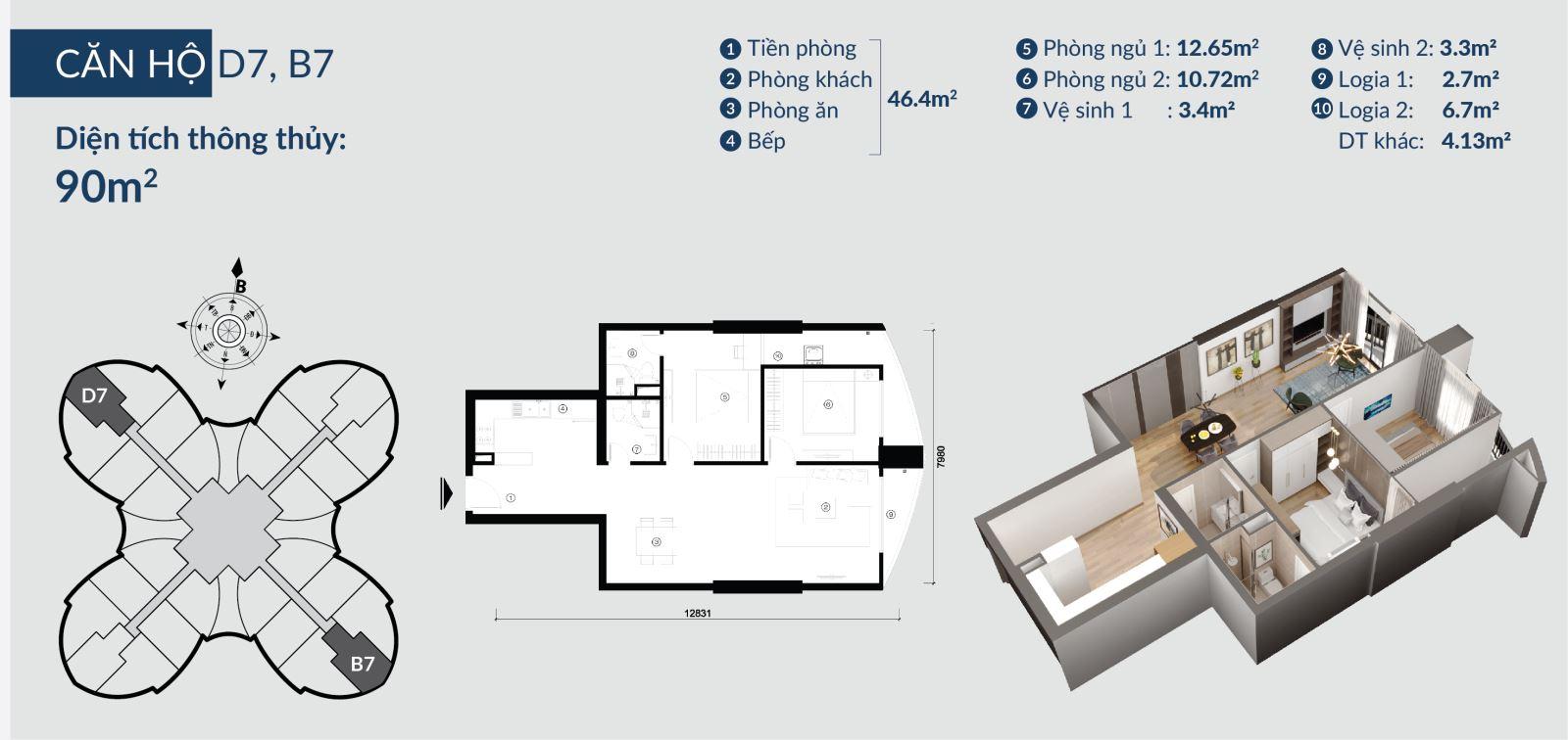 Chi tiết căn hộ Skyview Plaza 360 Giải Phóng 11