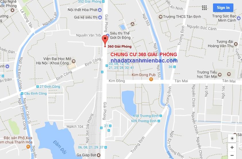 Vị trí dự án Chung cư 360 Giải Phóng 4