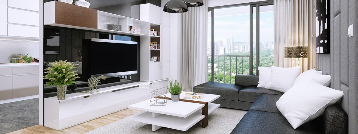 chung cư t&t dc complex nội thất phòng khách 1