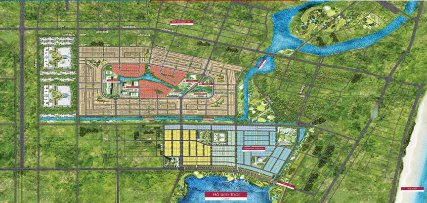 đất nền dragon smart city mặt bằng dự án